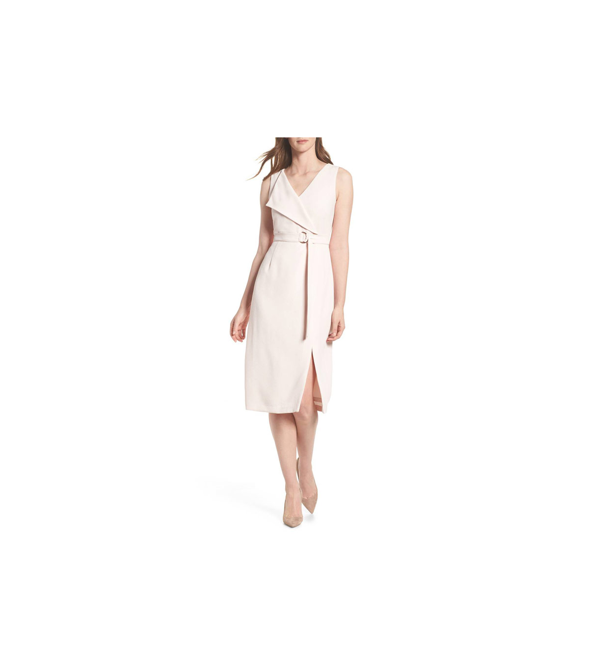 Adrianna Papell Cam Belted Midi Dress