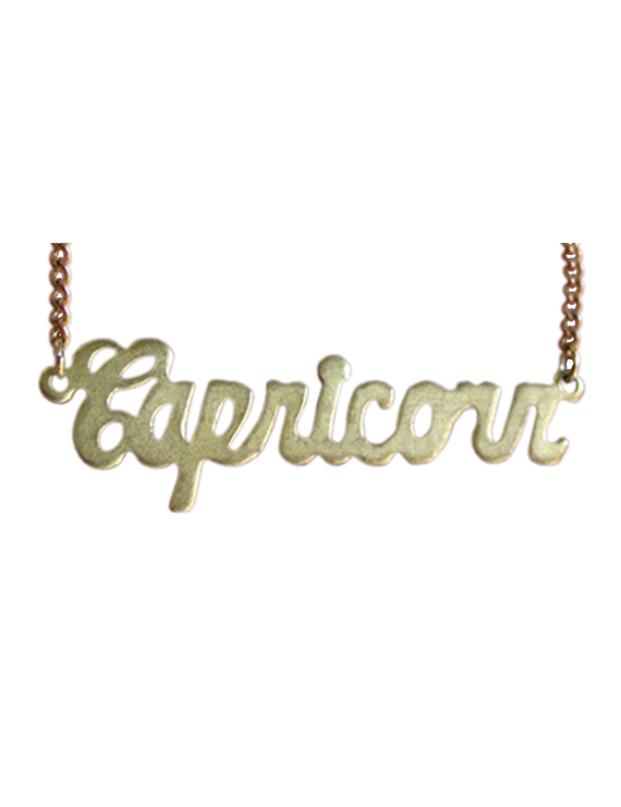 Astrological Sign Brass Necklace by BrooklynCharm