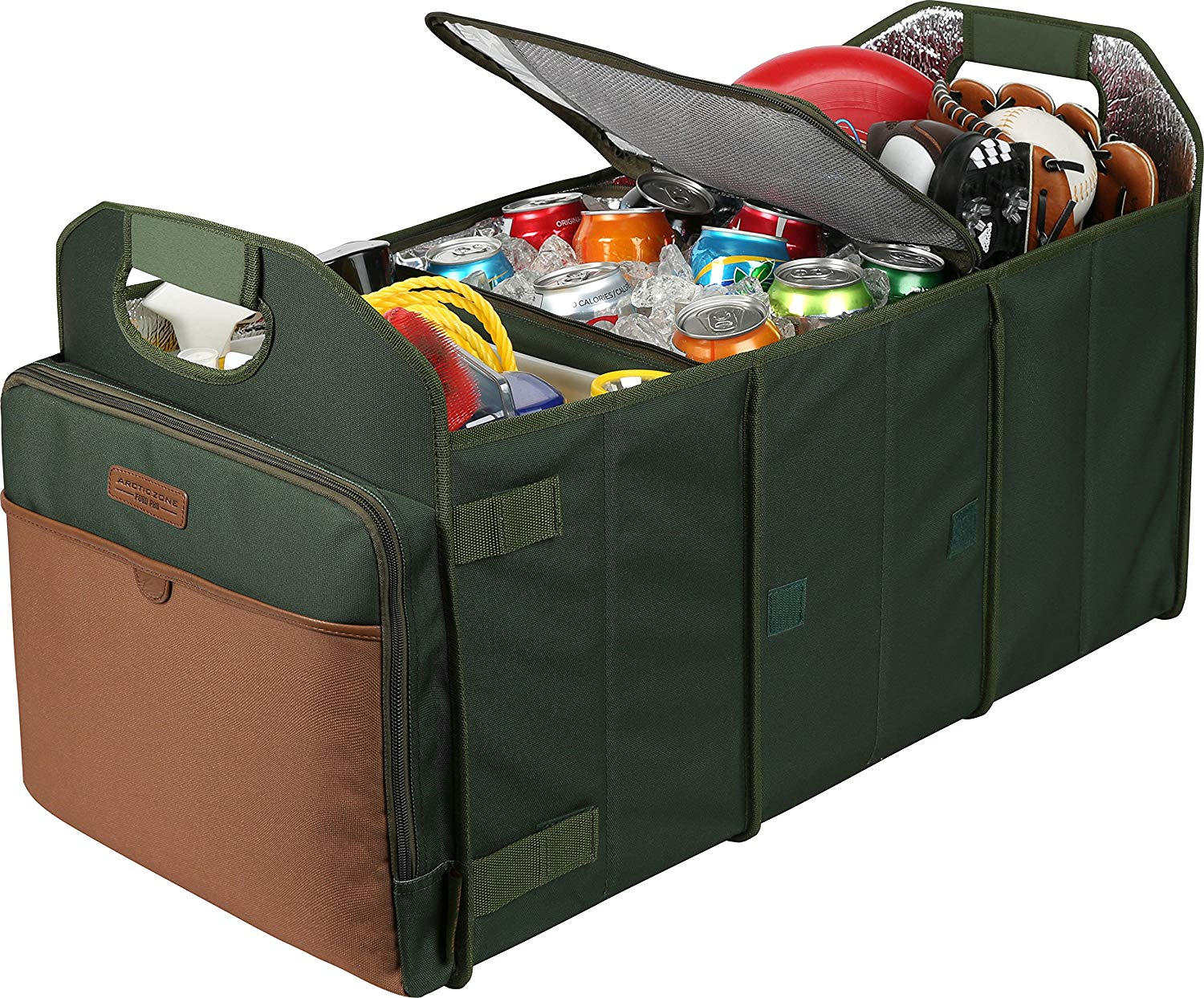 Cooler trunk organizer in green