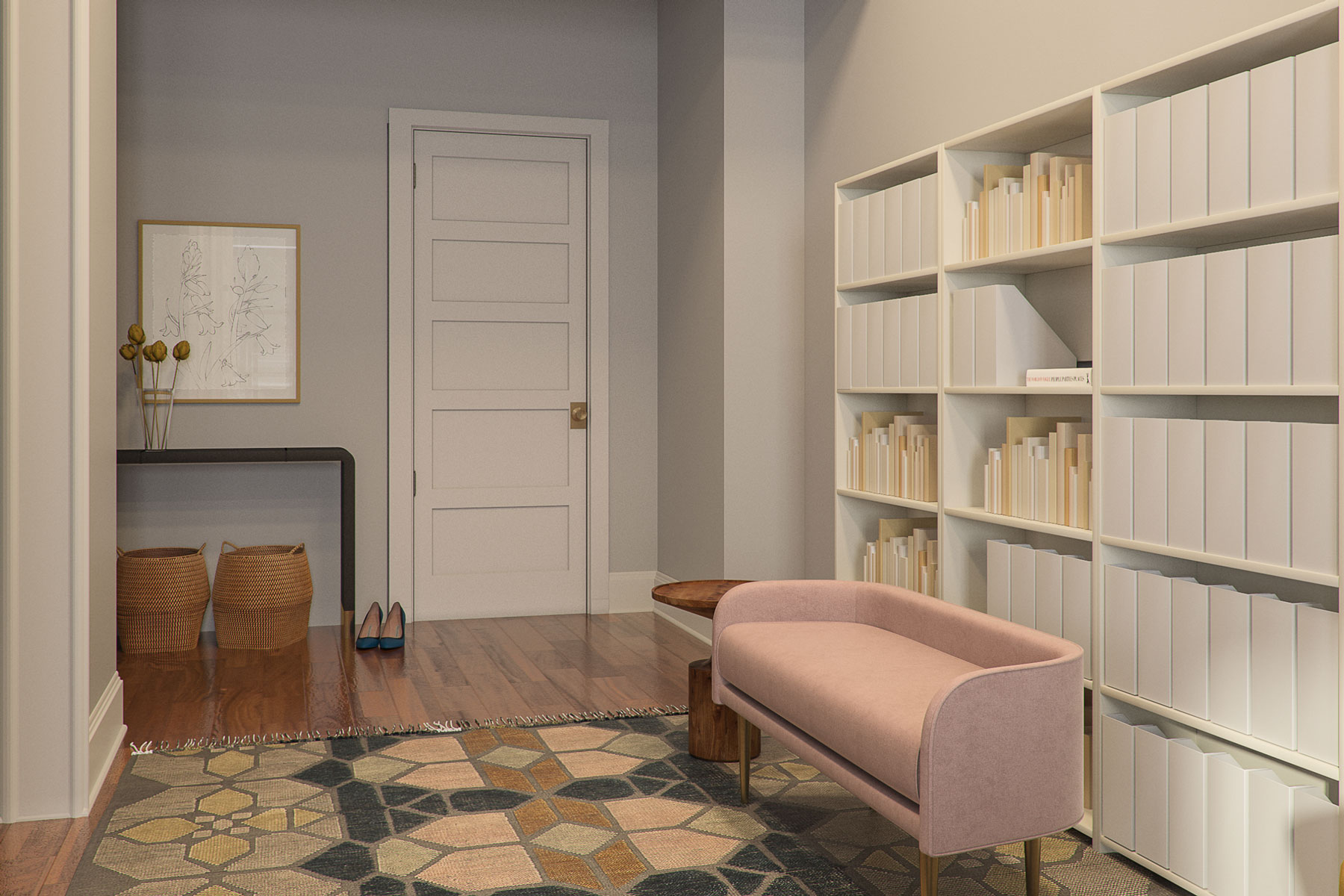 Carrie Bradshaw's Sex and the City apartment - foyer