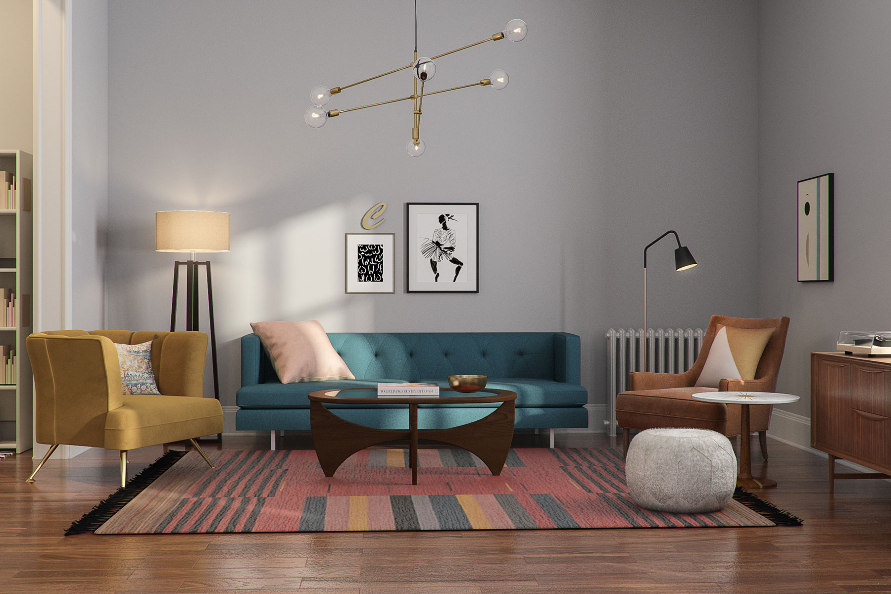 Carrie Bradshaw's Sex and the City apartment - living room