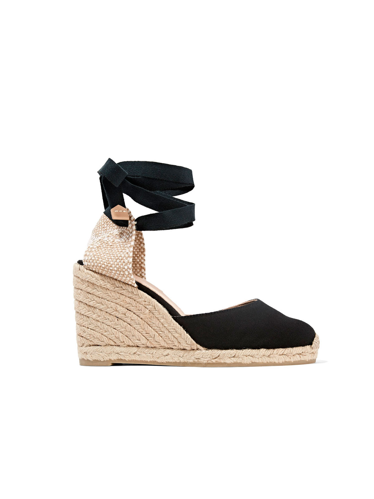 navy canvas wedge shoes