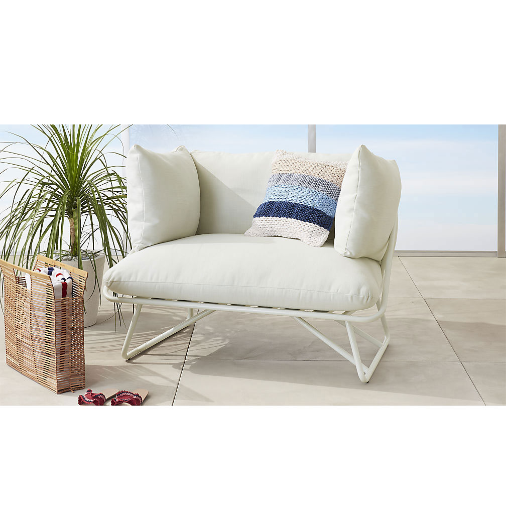 White outdoor pool chair