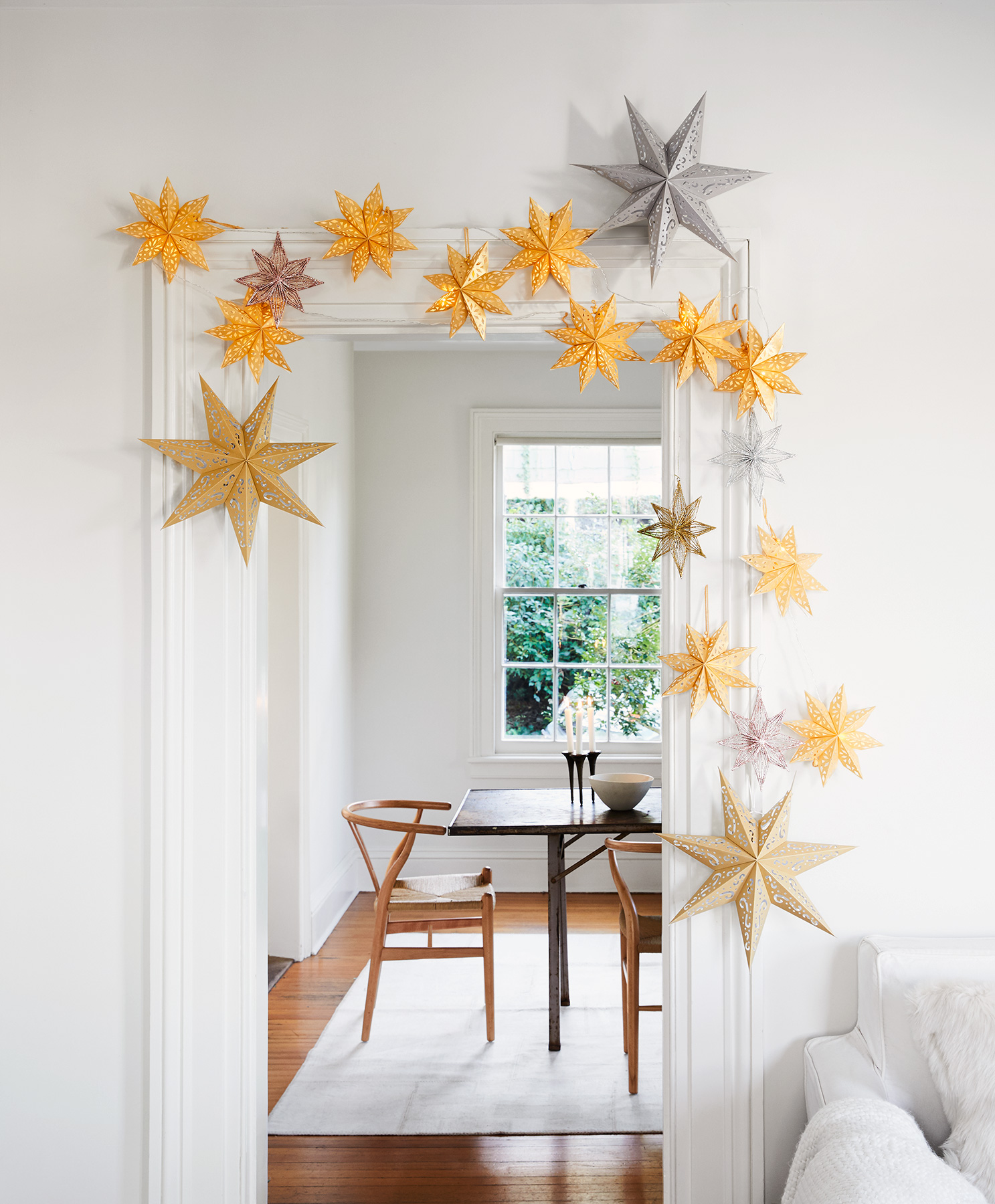 Christmas decoration ideas - Celestial Doorway