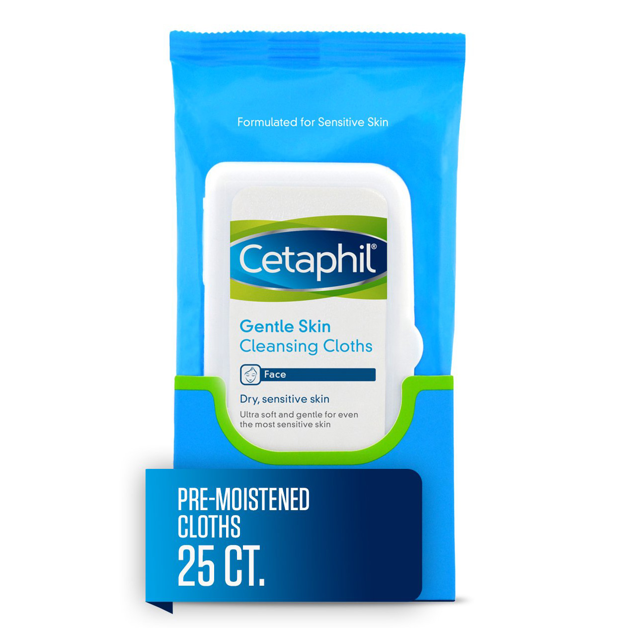 Cetaphil Gentle Skin Cleansing Cloths, Face Wipes for Dry/Sensitive Skin