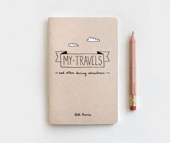 Best Stocking Stuffer Ideas for Men, Women, and Teens: Travel Journal From Etsy