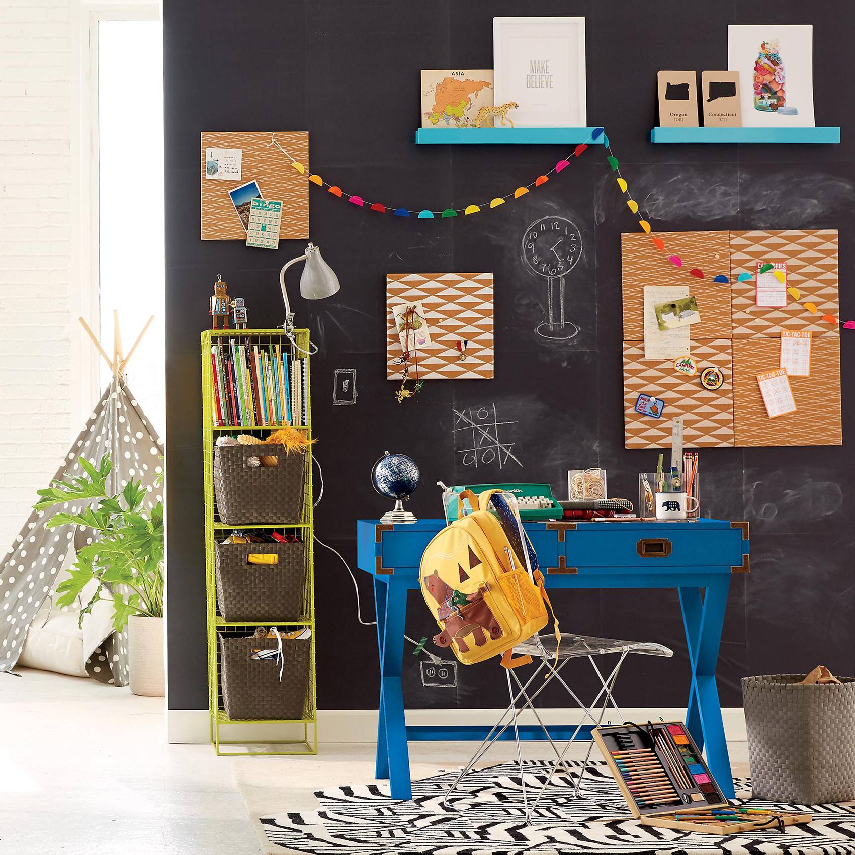 Child's playroom with chalkboard