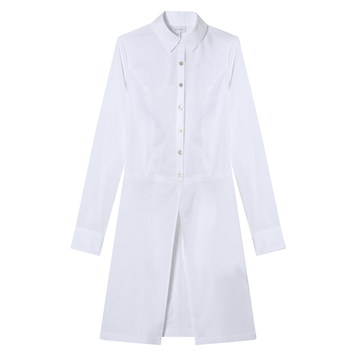 women's white tunic with long sleeves