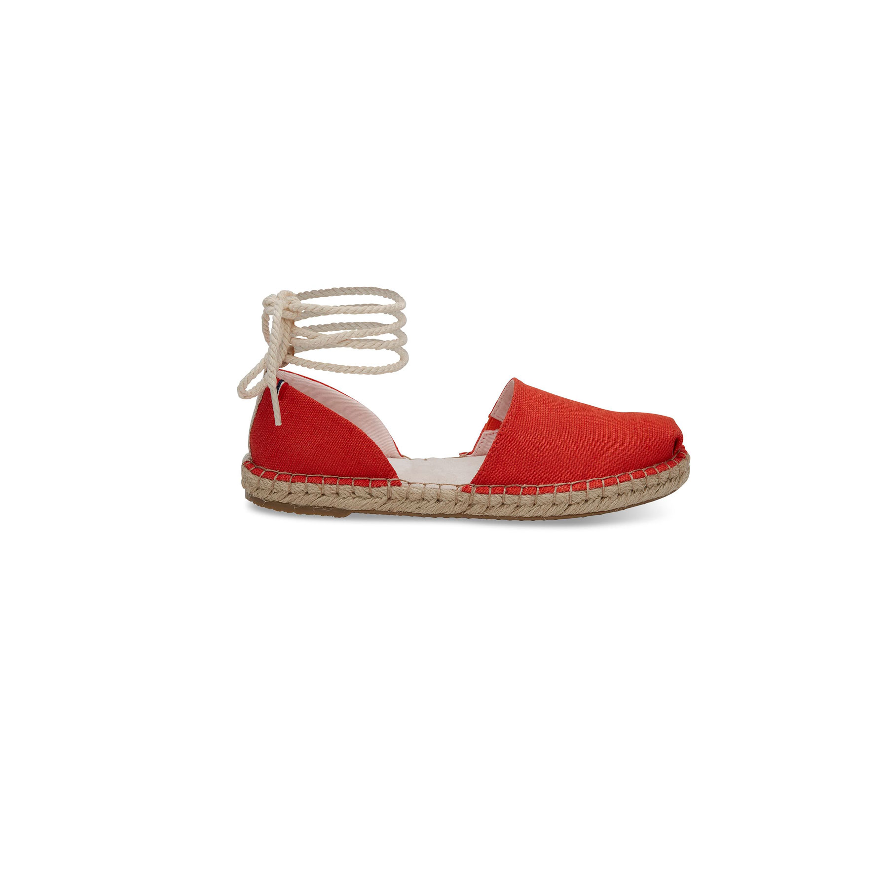 Clare V. Red Heritage Canvas Women's Katalina Espadrilles