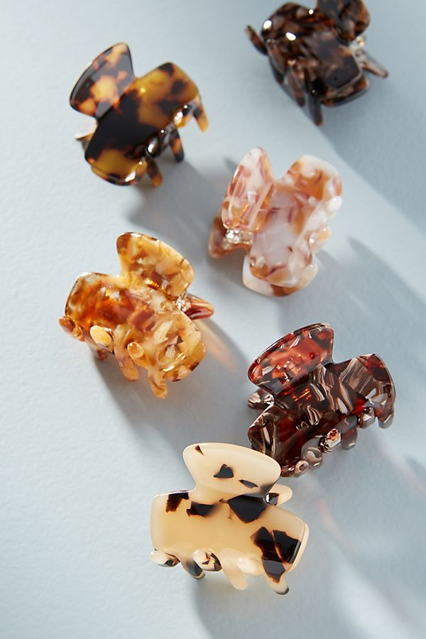 Speckled claw clips from Anthropologie
