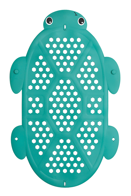2-in-1 Bath Mat & Storage Basket Turtle