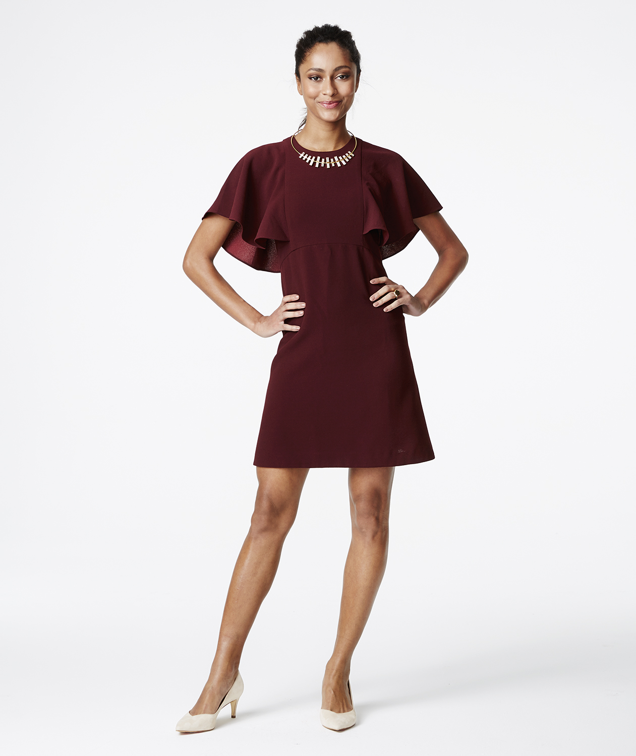 Eliska Ruffle-Sleeve Dress