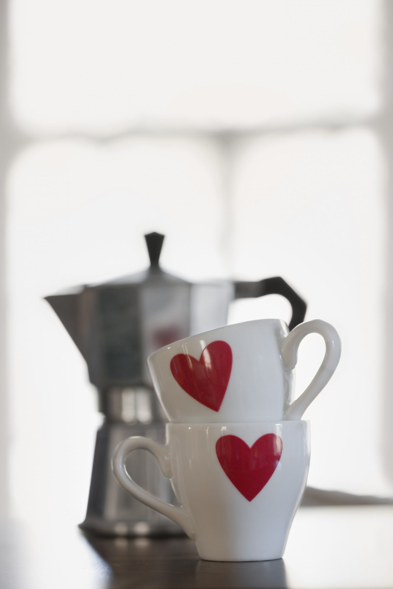 Coffee Cups with Hearts