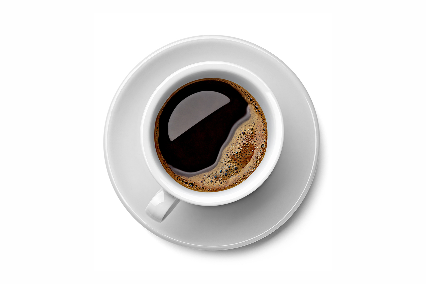 Coffee in cup on saucer