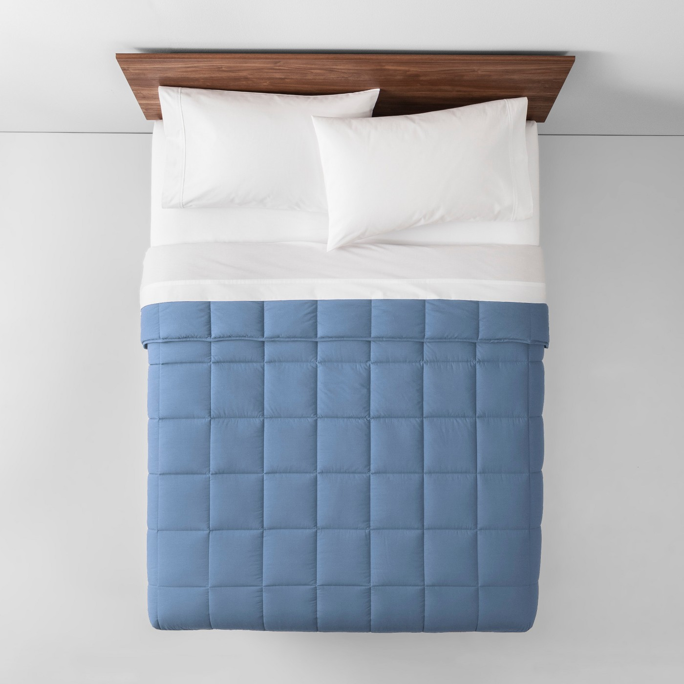 College packing list, cozy blue comforter bedding