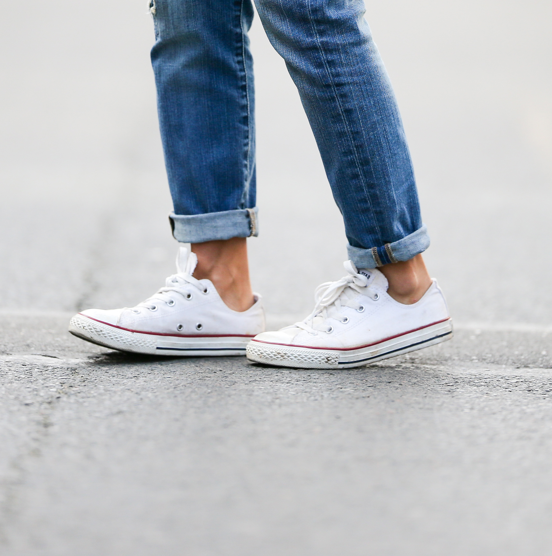 Jeans and white Converse