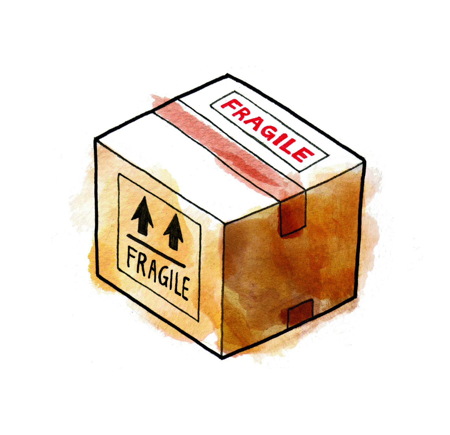 Illustration: box of cookies ready to ship