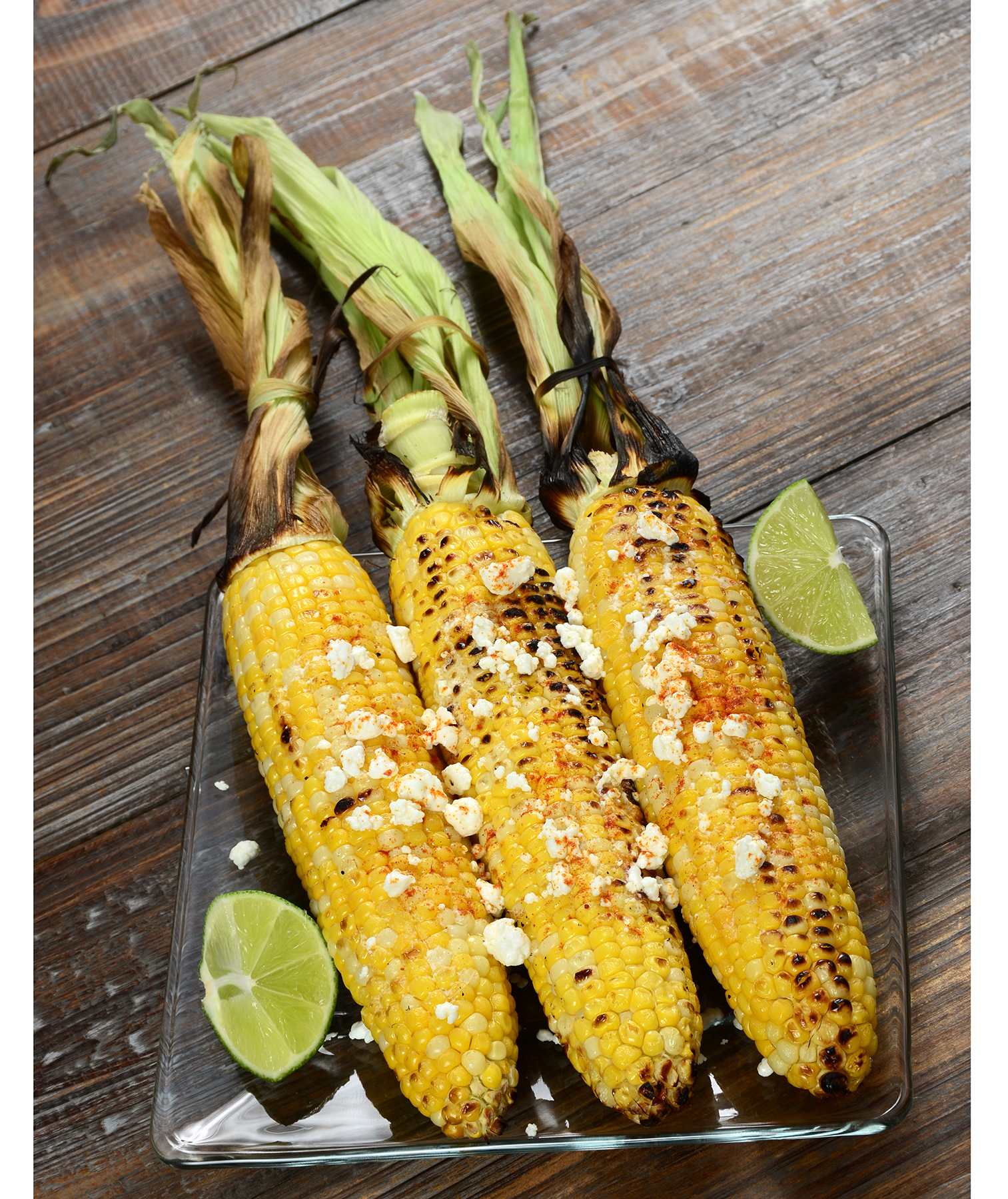 Grilled corn with cotija