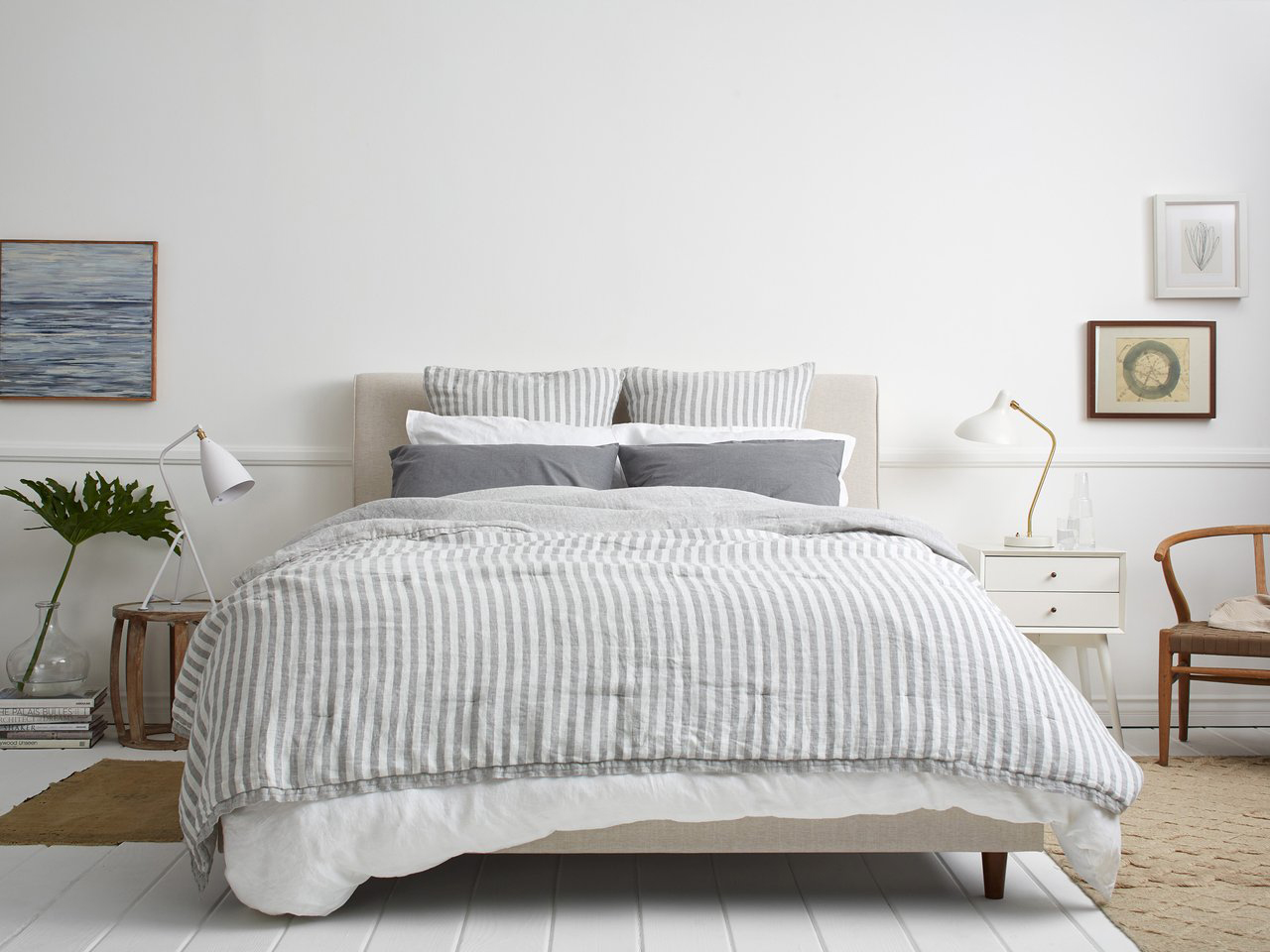 Cozy Bed Must-Haves: Parachute Striped Linen Euro Shams
