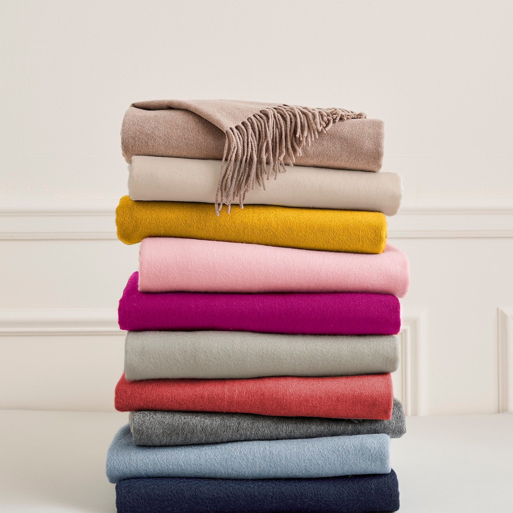 J.Crew Cashmere Blankets in multiple colors