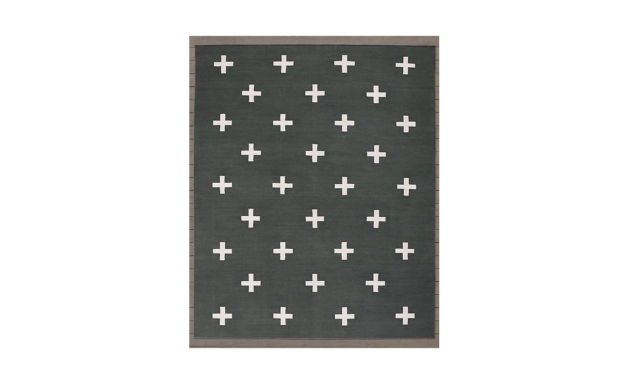 RH Baby & Child's Crisscross Flatweave rug