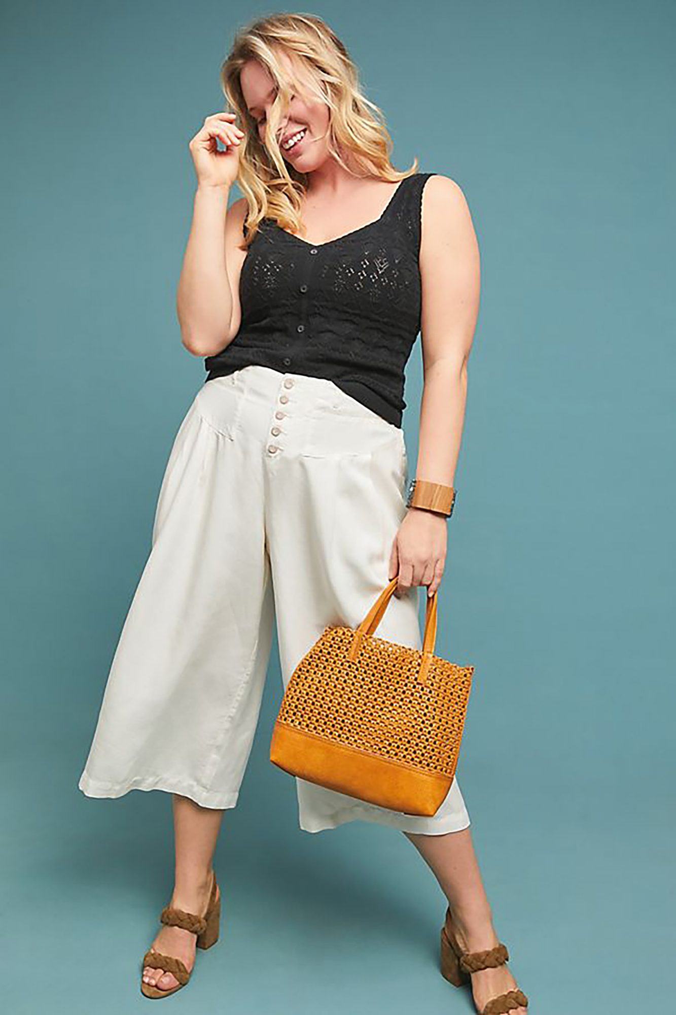 Oceanside Cropped Wide-Leg Pants