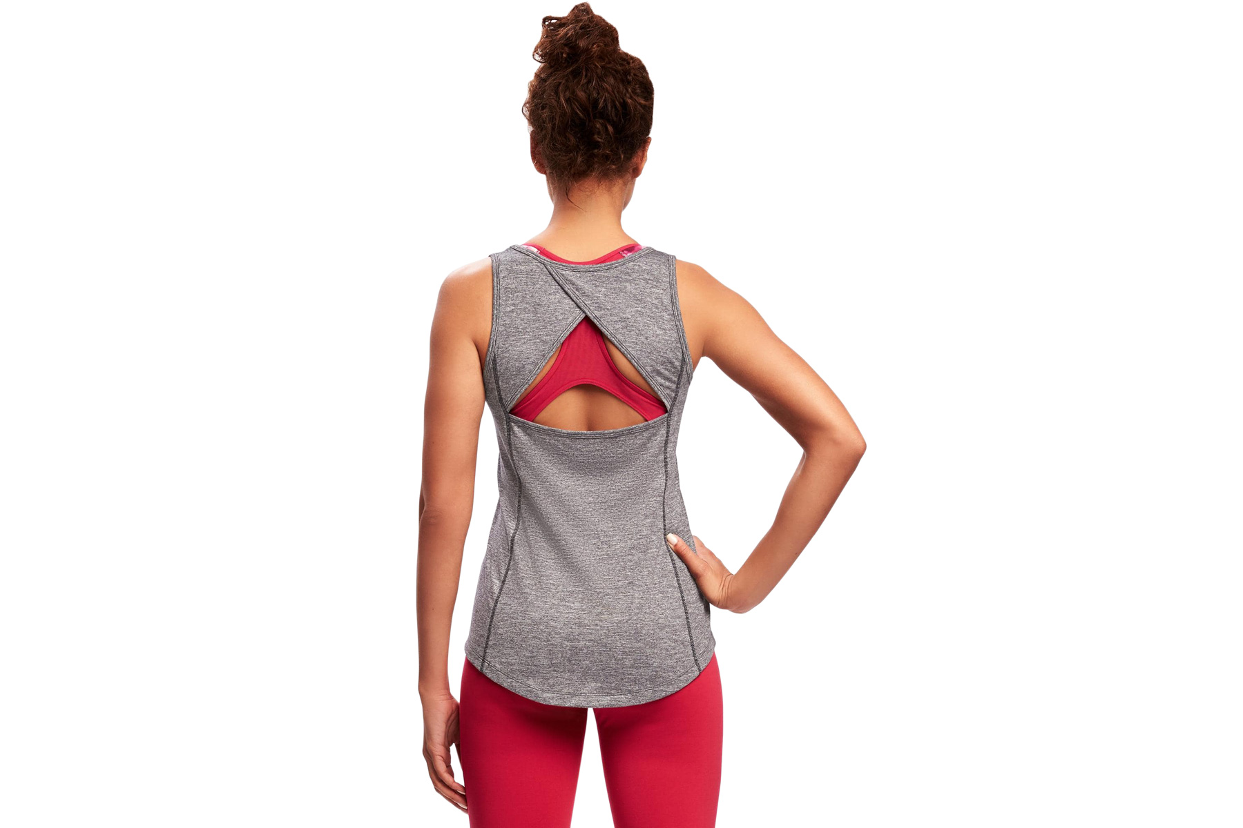 Fitted Go-Dry Crossback Keyhole Tank for Women