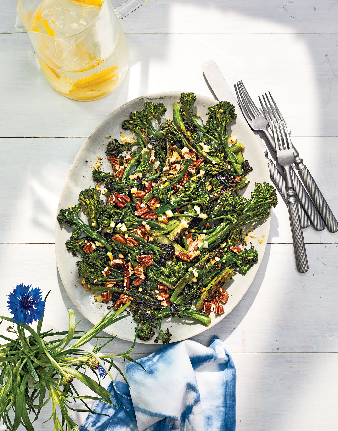 Crunchy Broccolini With Lemon and Pecans