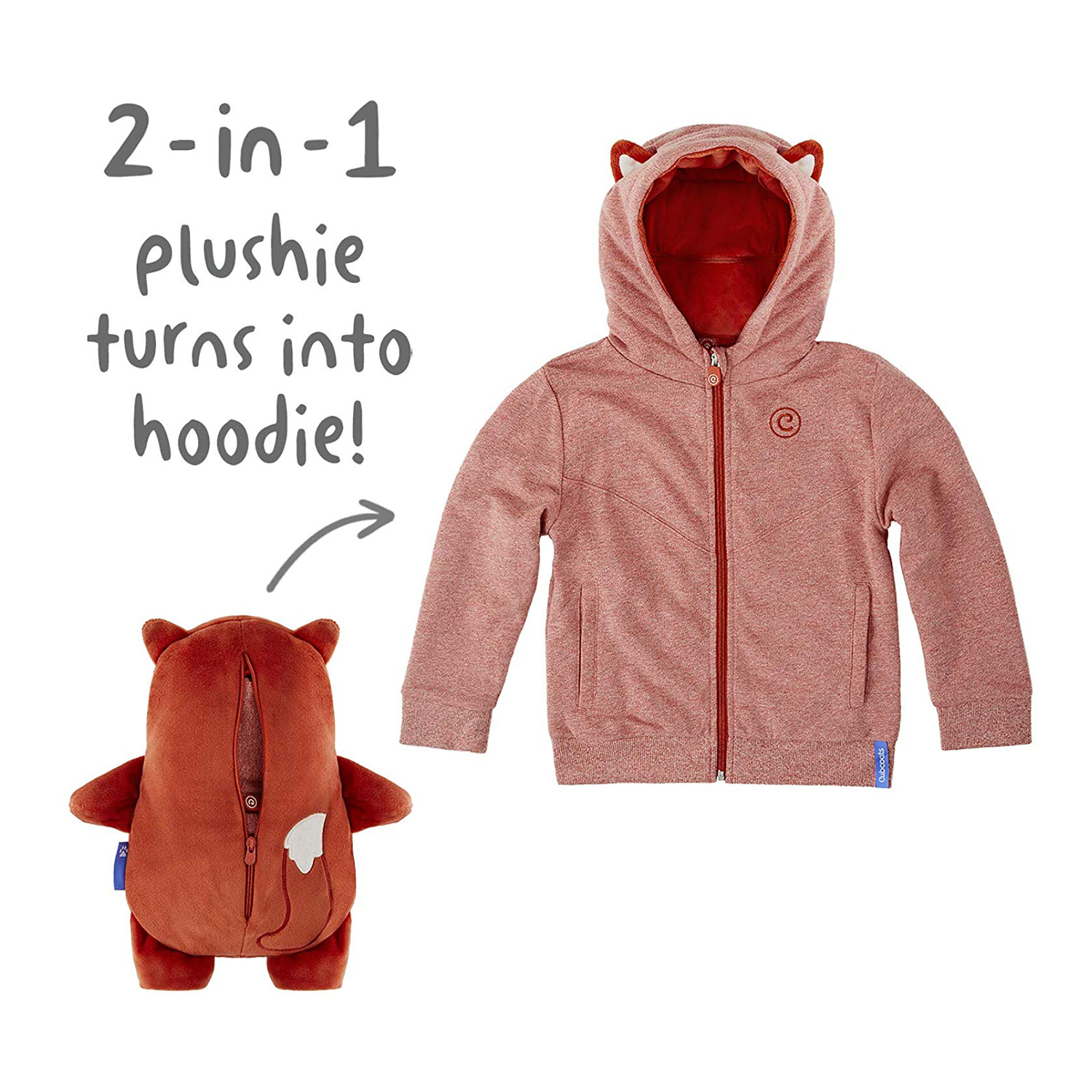 Cubcoats Flynn The Fox 2-in-1 Transforming Hoodie