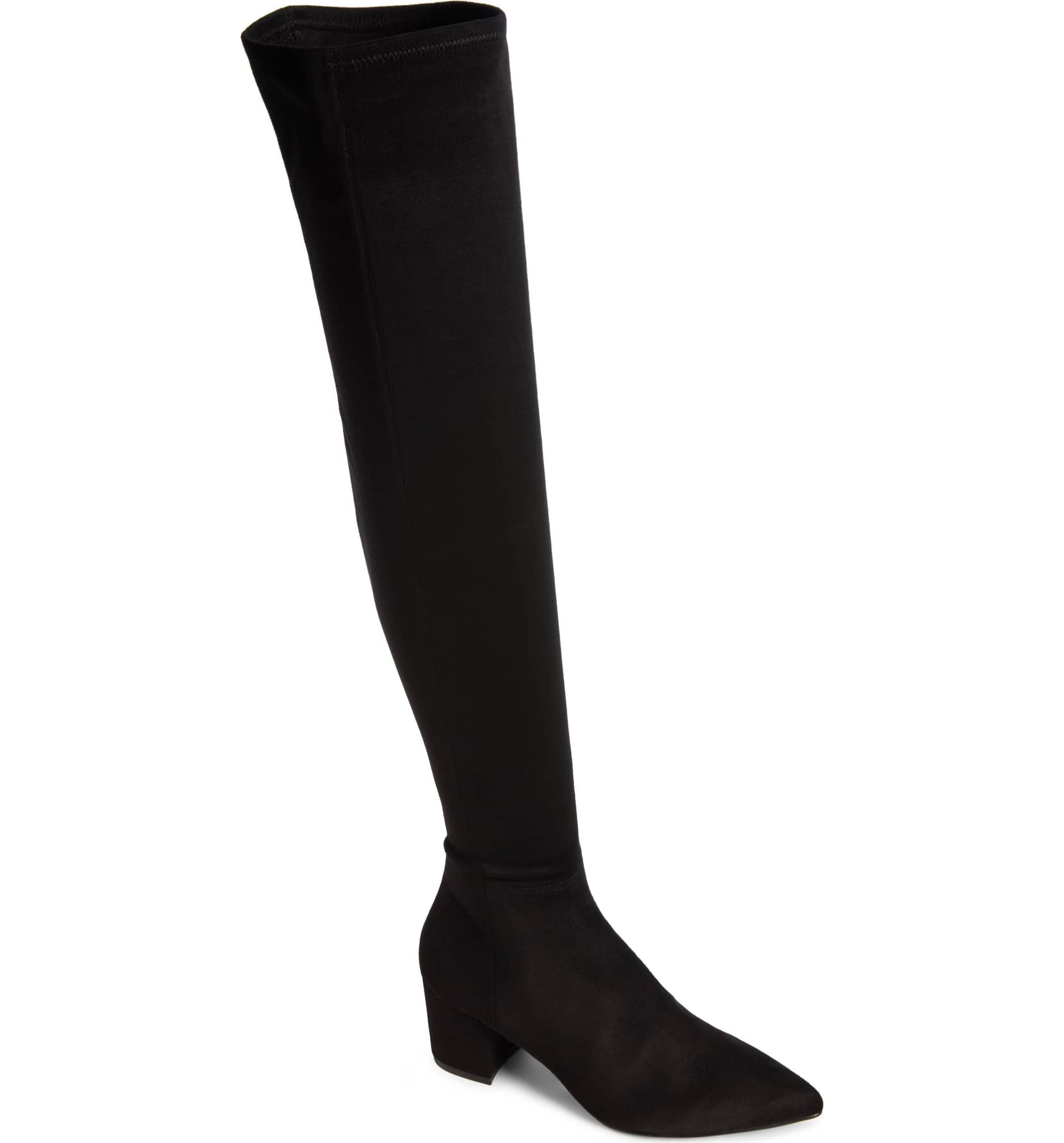 Cute Boots for Fall, Black Suede Over-the-Knee Boots