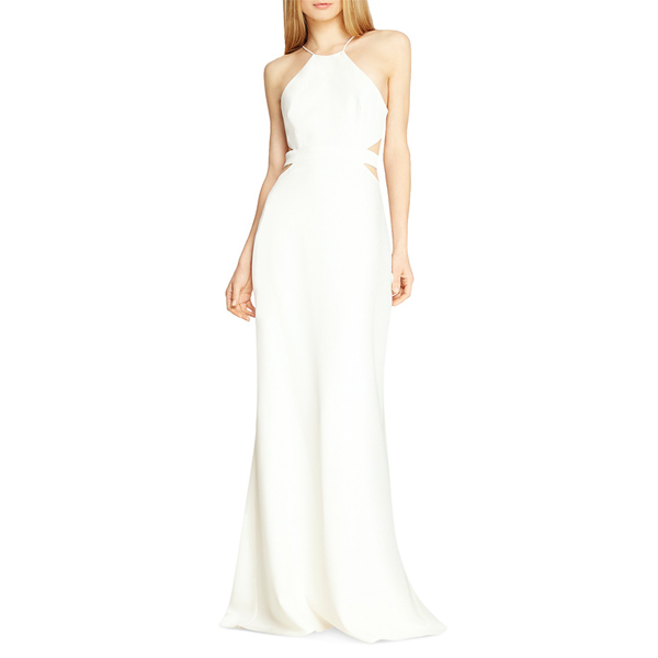 Halston Heritage Cutout Gown