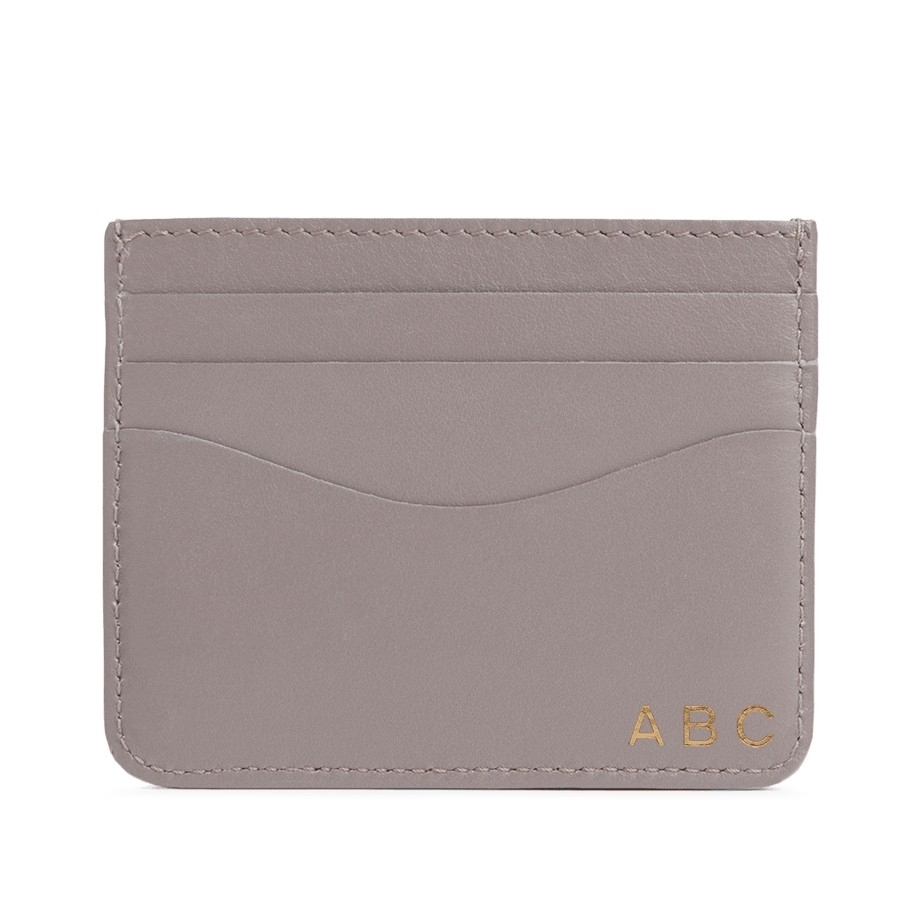 cuyana gray leather cardholder