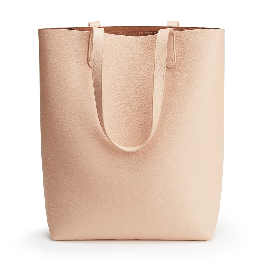 cuyana tall leather zipper tote