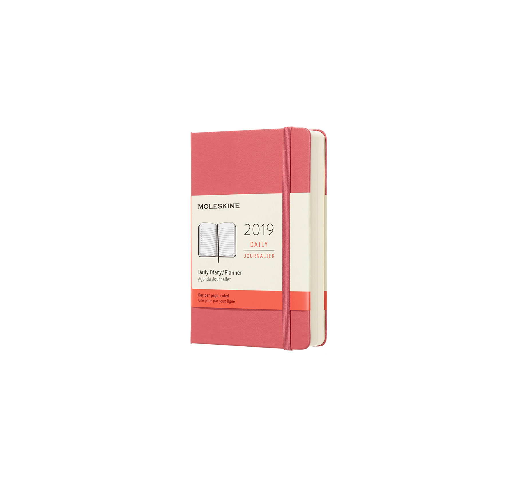 2019 Daily, Weekly, and Monthly Planners Moleskine 12-Month Daily Planner in Pink