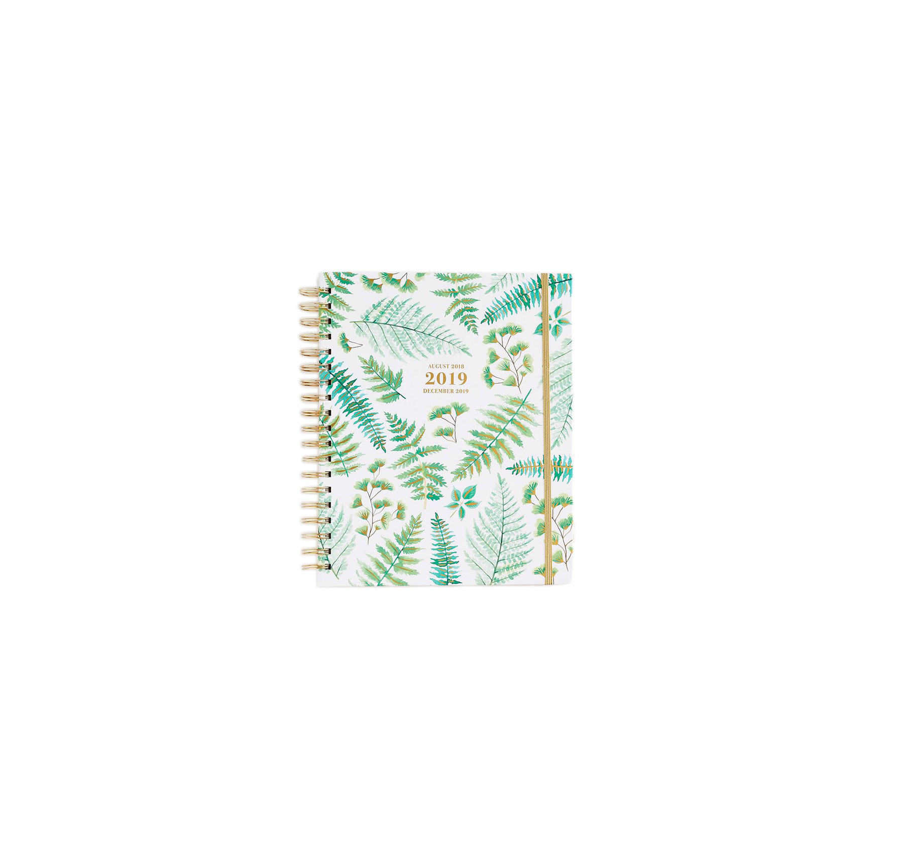 2019 Daily, Weekly, and Monthly Planners Paper Source 2018-2019 Ferns Planner