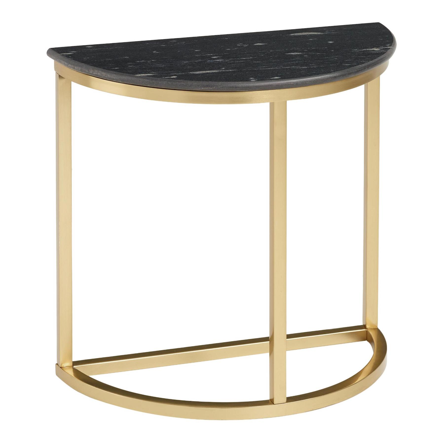 Black Marble decor trend for 2020, console table