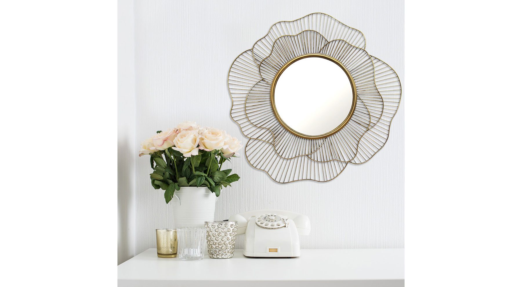 Decorative Flower Wall Mirror