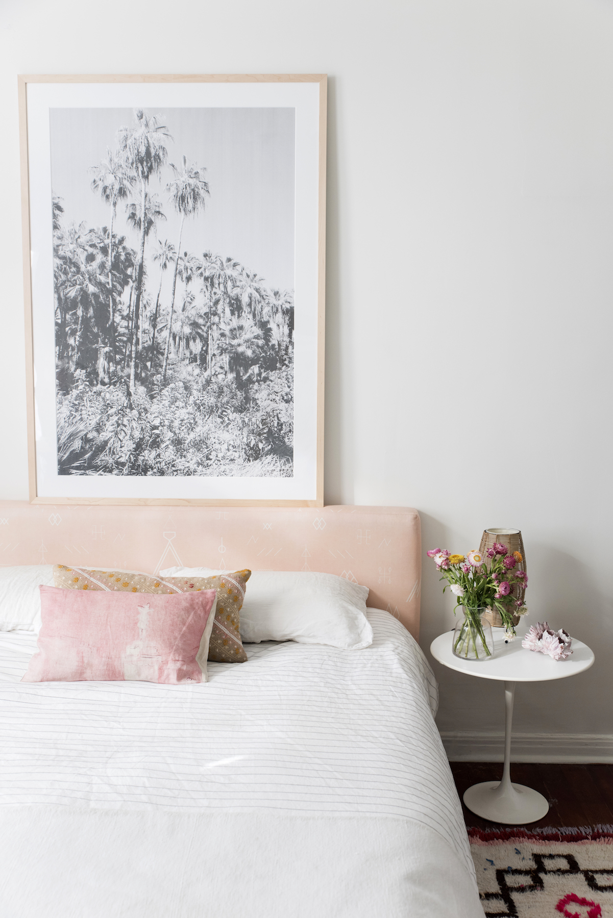 Designlovefest Bedroom With Pink Headboard