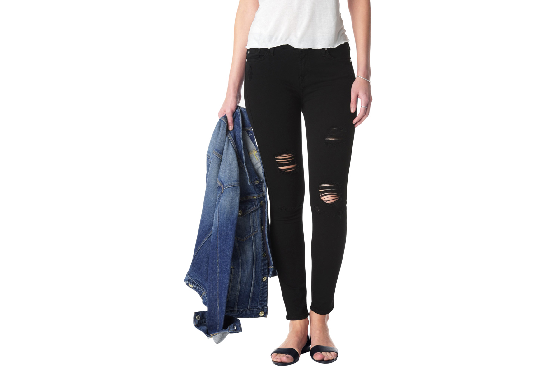 Slim Illusion Ankle Skinny with Destroy