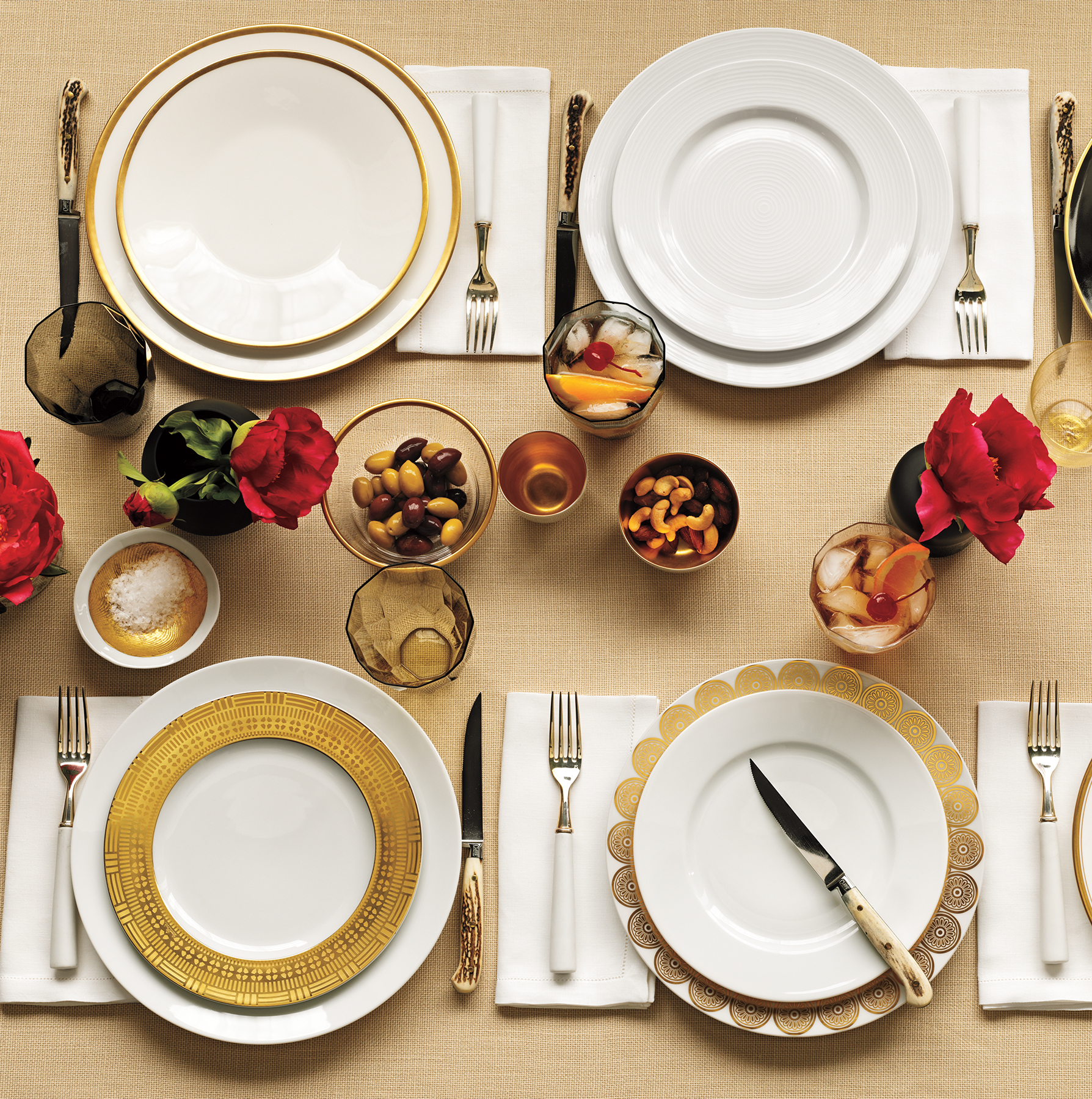 Tabletop at dinner party