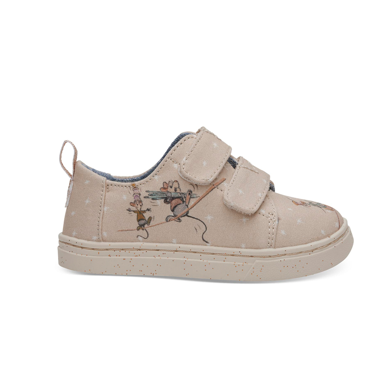 Disney X TOMS Taupe Gus & Jaq Tiny TOMS Lenny Sneakers