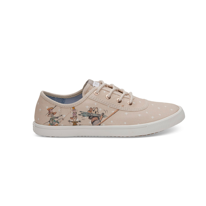 Disney X TOMS Taupe Gus & Jaq Women's Carmel Sneakers