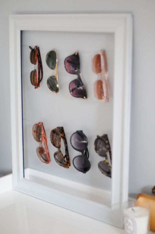 DIY sunglass display