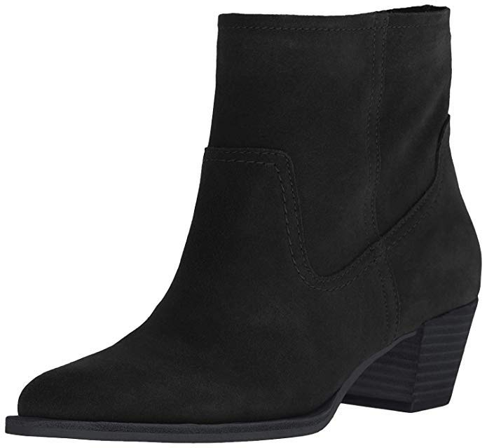 dolce vita black suede ankle boots for women