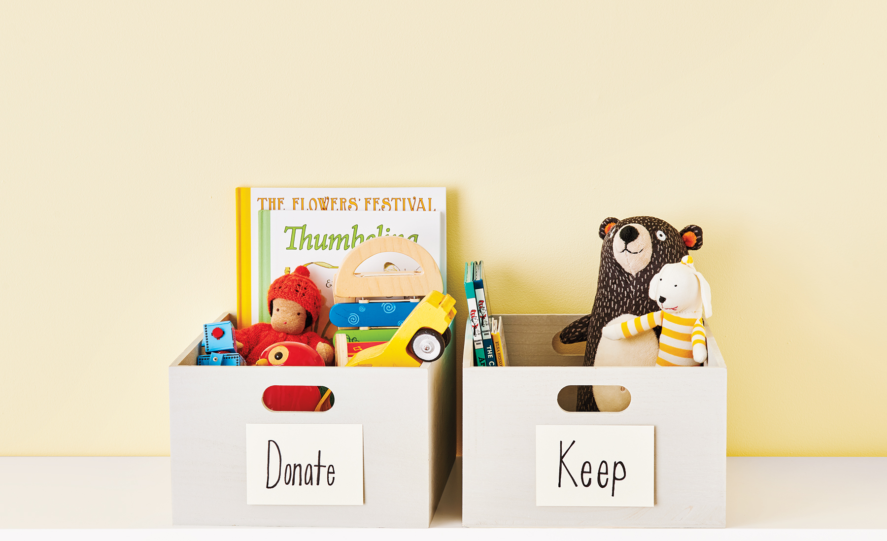Donate and Keep toy bins