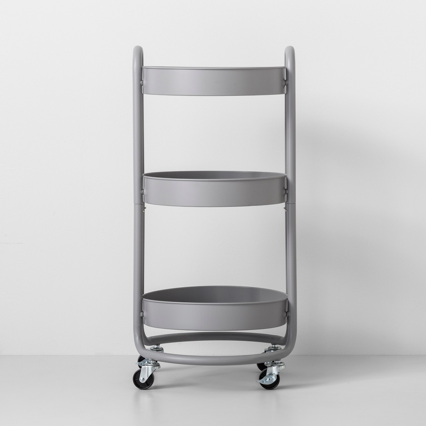 Dorm Room Decor Gray Storage Cart