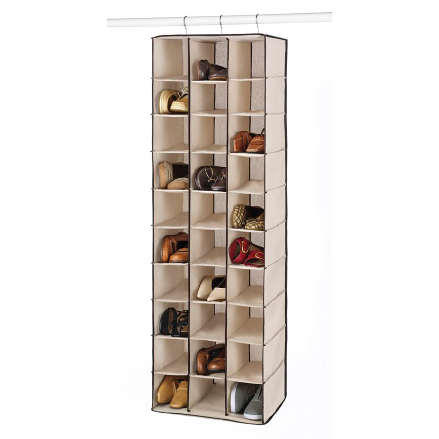 Dotted Line 30 Pair Hanging Shoe Organizer