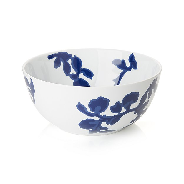 Blue floral bowl from Crate & Barrel