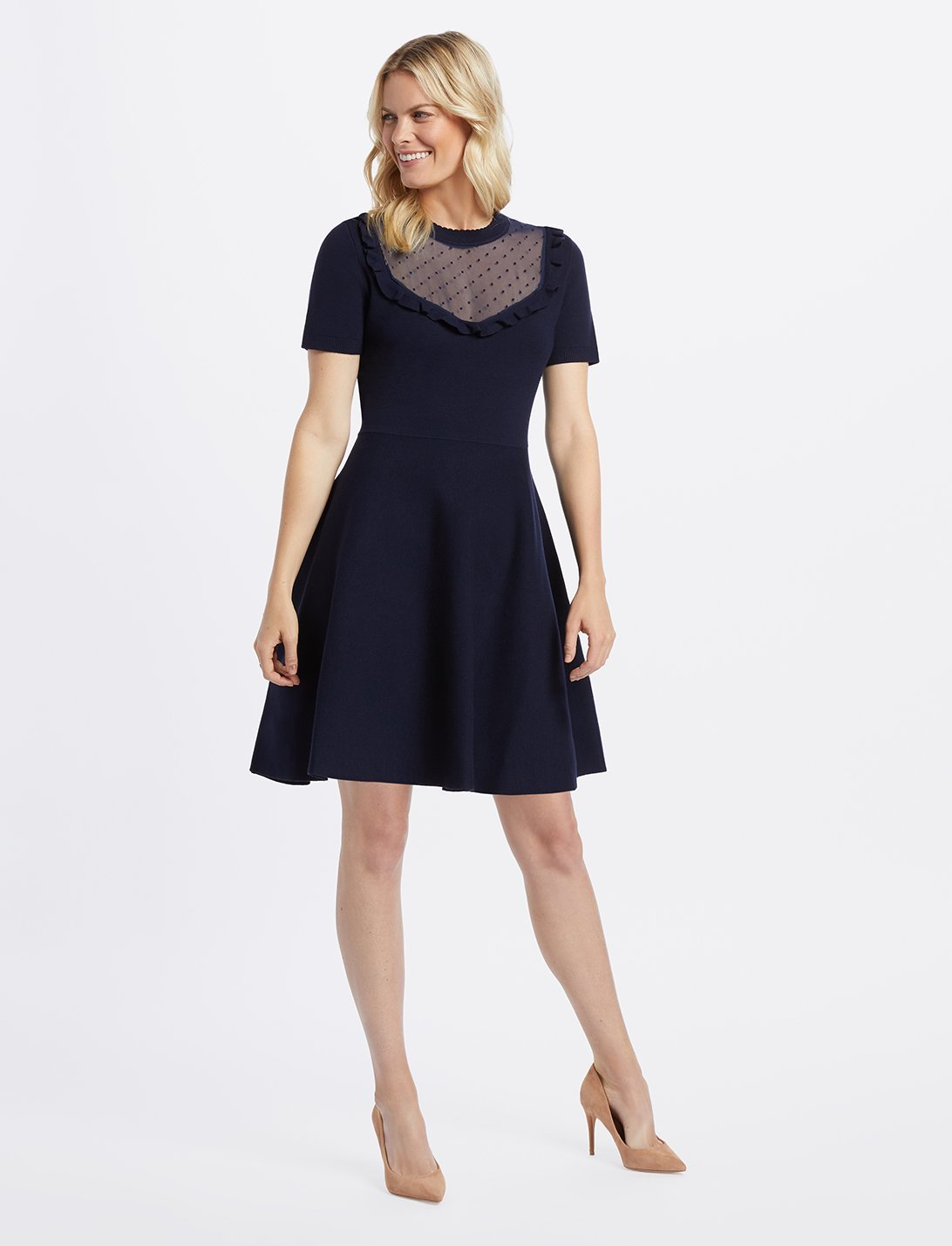 draper james a-line sweater dress