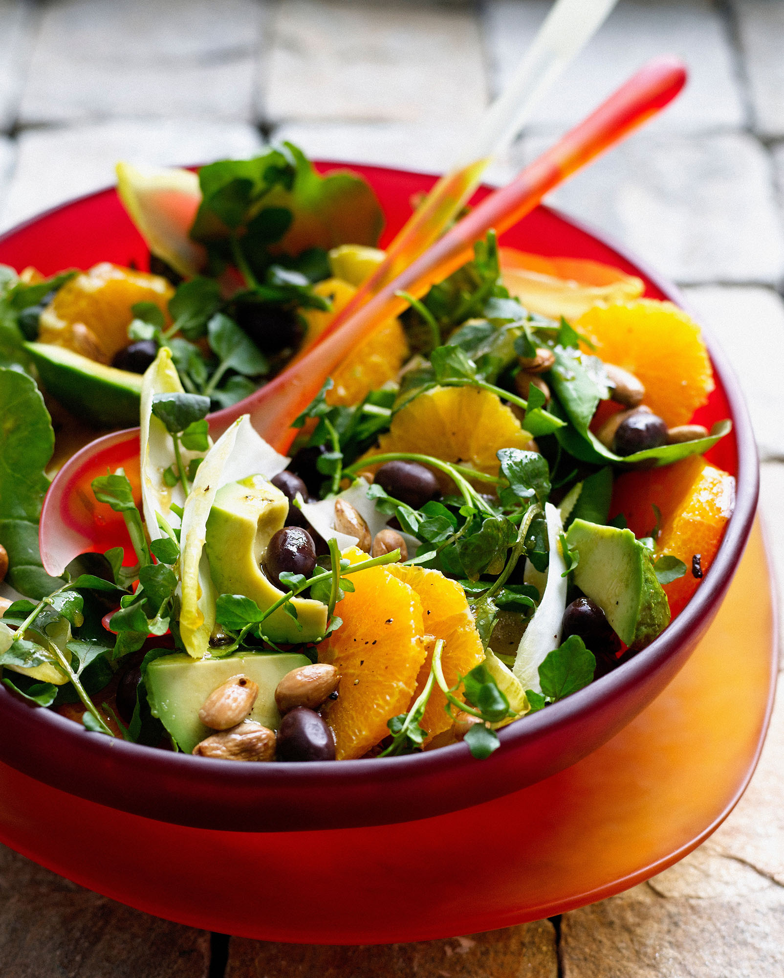 Dressed green salad